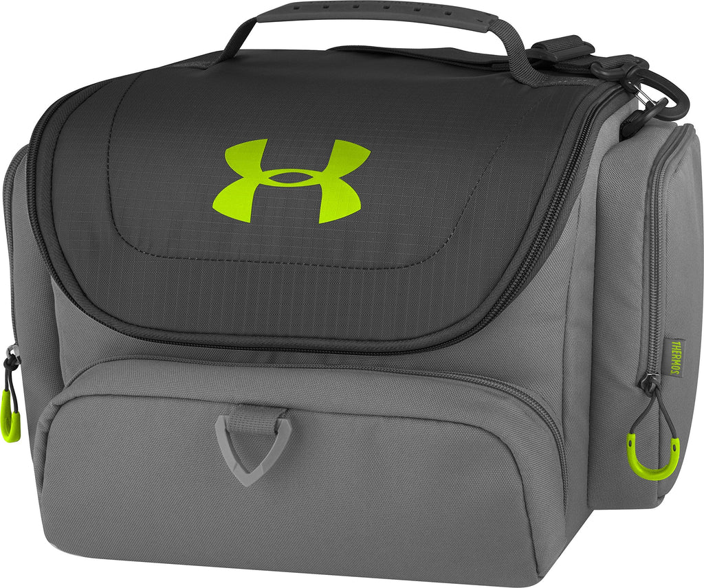 Under Armour 24 Can Soft Cooler, Charcoal/Hyper Green - backpacks4less.com