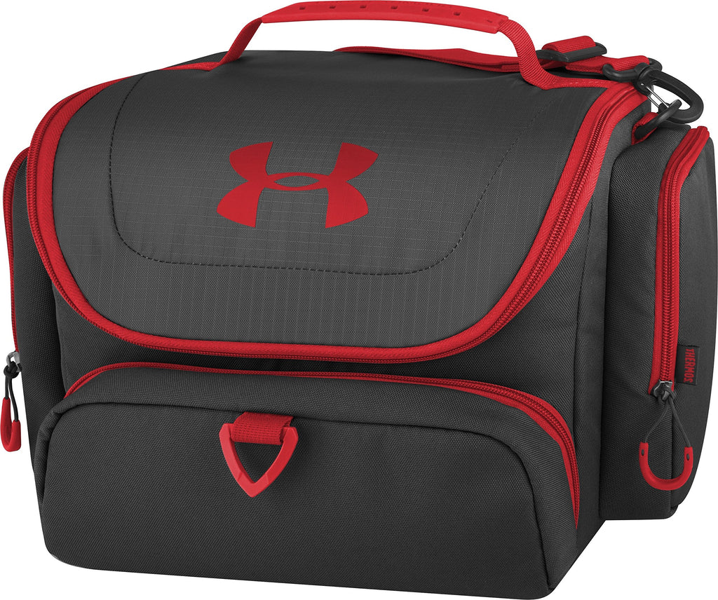Under Armour 24 Can Soft Cooler, Black/Red - backpacks4less.com