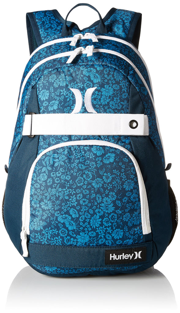 Hurley Men's Honor Roll Printed Backpack, Photo Blue/Midnight Teal/White, One Size - backpacks4less.com