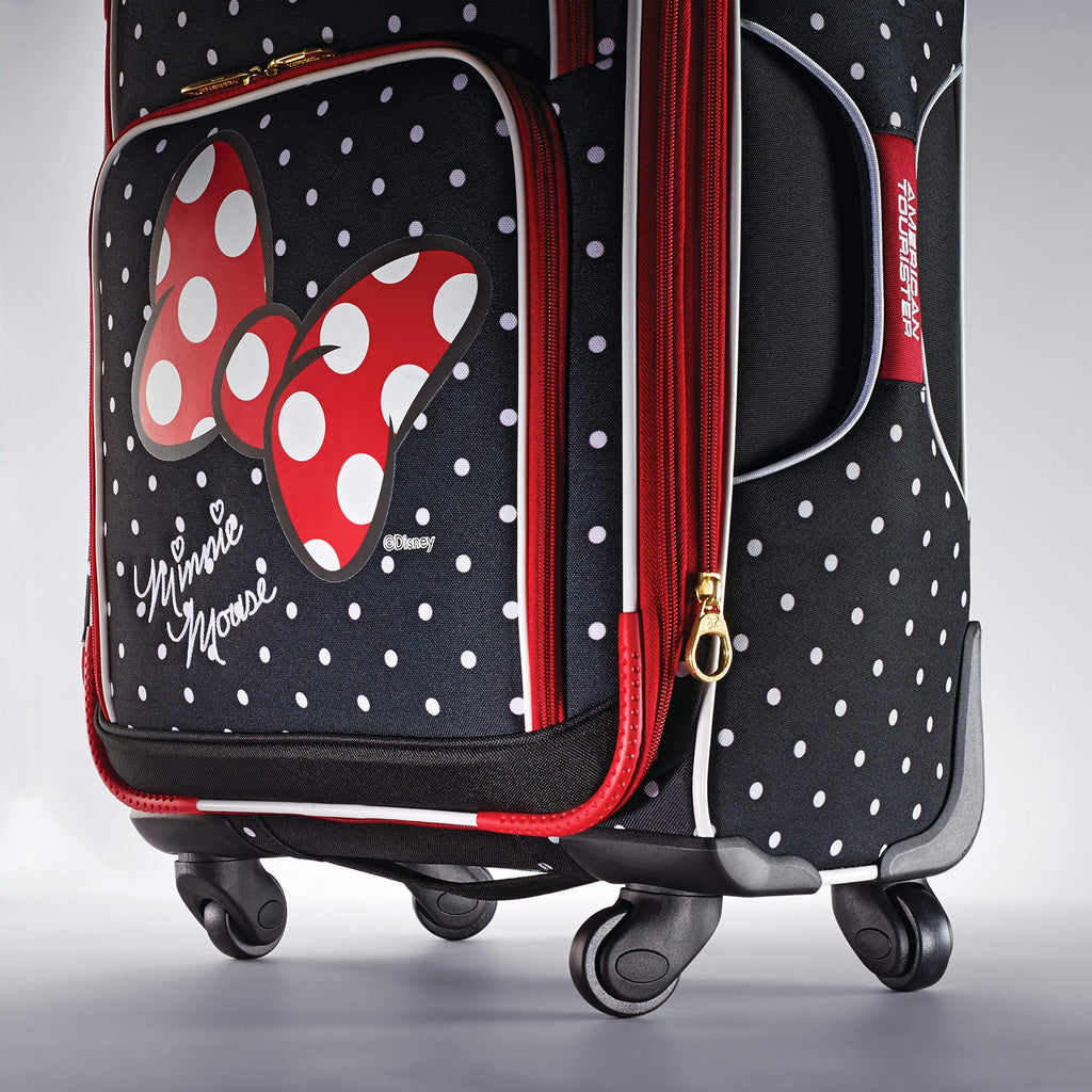 American Tourister Disney Minnie Mouse Red Bow 2-Piece Softside Luggage Set (21/28) with Spinner Wheels - backpacks4less.com