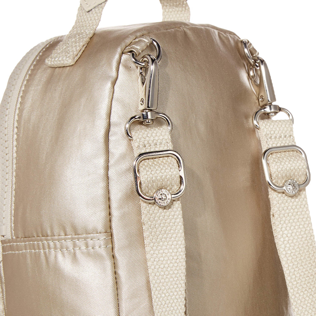 Kipling womens Alber 3-In-1 Convertible Mini Backpack, cloud Metal, One Size - backpacks4less.com