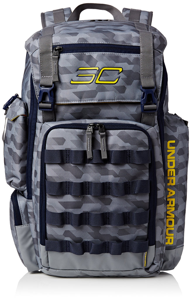 Men's Under Armour SC30 Backpack Basketball Bag Stealth Gray/Midnight Navy/Taxi Size One Size - backpacks4less.com