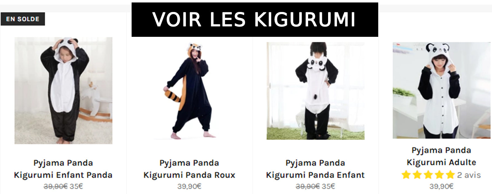 Collection Kigurumi Panda