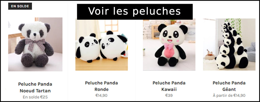 Collection Peluche Panda