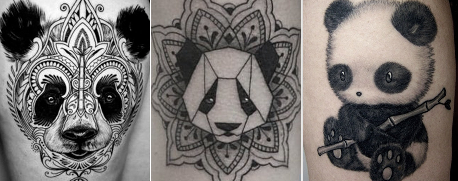 Tatouage Panda design
