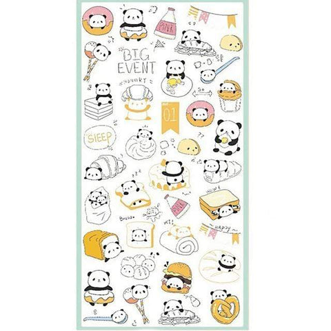 Stickers Panda Mignon