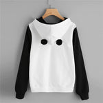 Sweat capuche oreille panda