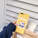 Coque Panda iPhone 6 Jaune
