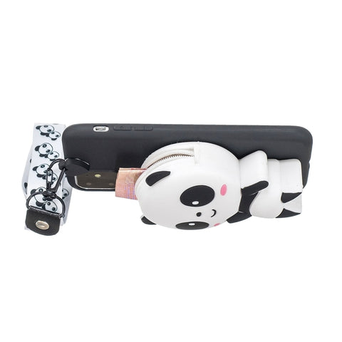 Coque Panda iPhone <br> 3D et Sangle