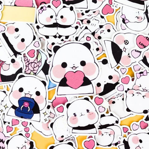 Panda Hugs Stickers