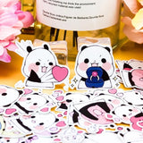 Love Panda Stickers