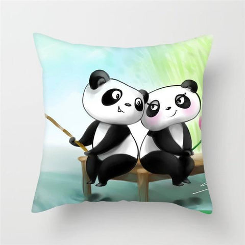 Coussin Panda Cartoon