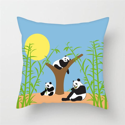 Coussin Panda Famille