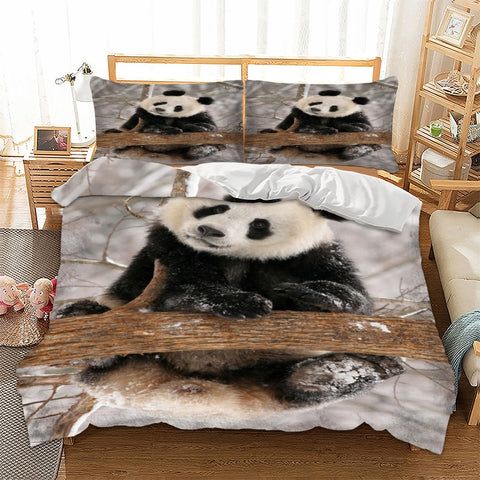 Housse de Couette Photo Panda