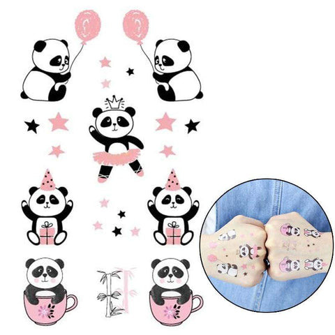 Panda Tatouage Kawaii