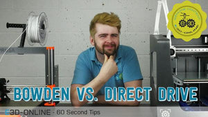 60 Second Tips: Bowden v Direct Drive