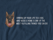 Load image into Gallery viewer, BellaC - German Shepherd White Detail T-shirt