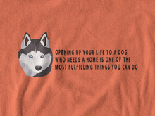 Load image into Gallery viewer, BellaC - Siberian Husky Black Detail T-shirt