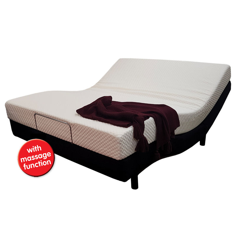 Adjustable Visco-Vibe Queen Bed With Massage System