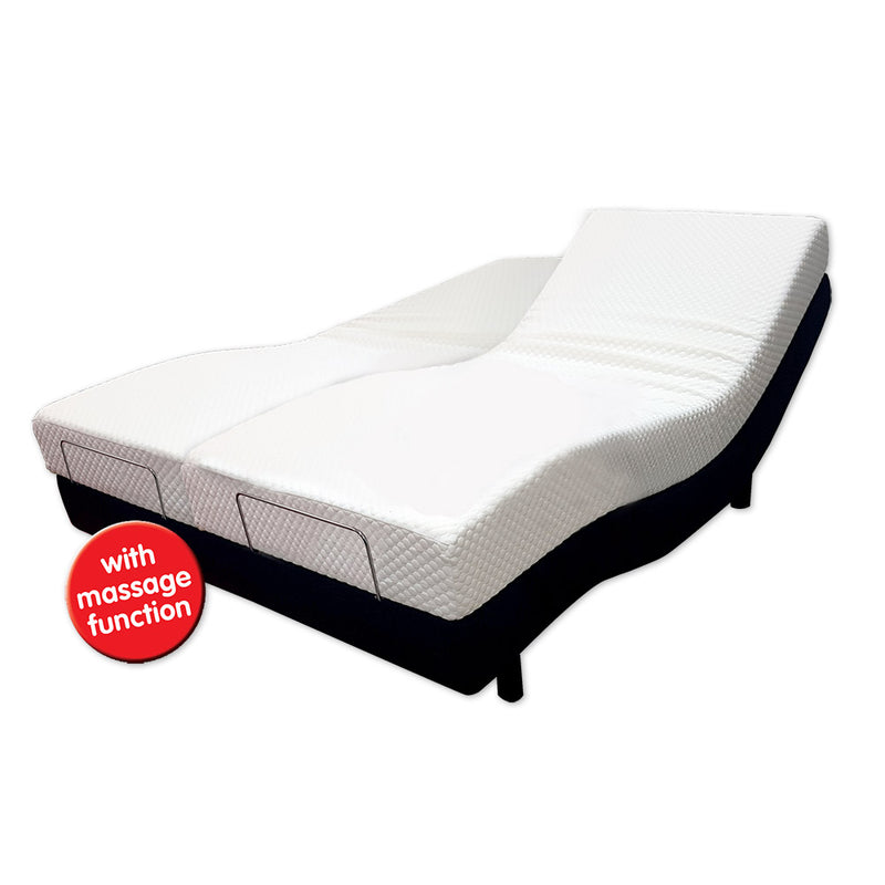 Adjustable Visco-Vibe SuperKing Bed With Massage System