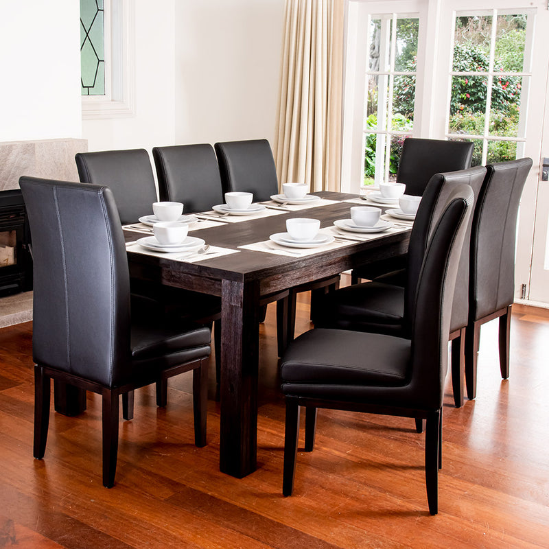 London 9 Piece 2100mm Dining Suite