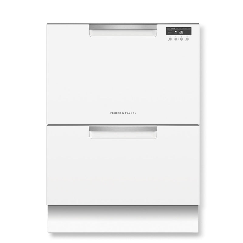 Fisher & Paykel White Double Dishdrawer Dishwasher 14 Place Settings