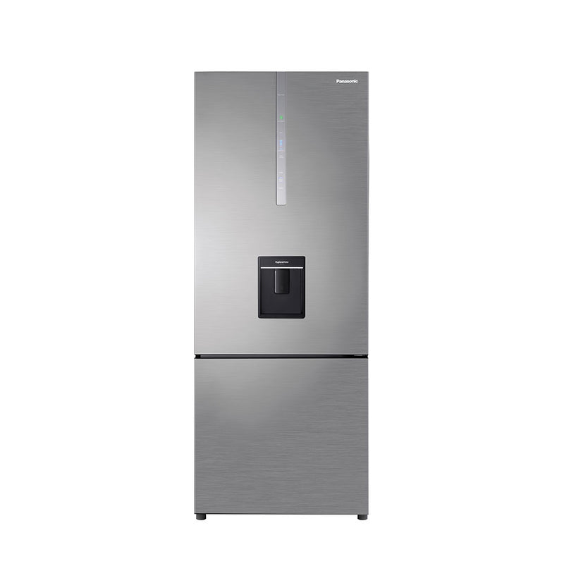 Panasonic 450L Stainless Steel Fridge Freezer with Water Dispenser