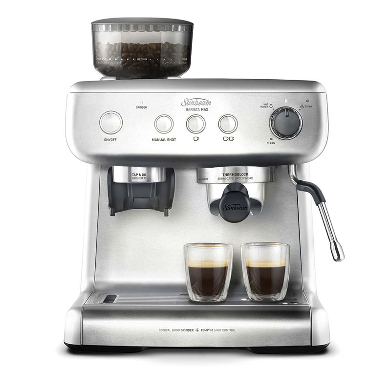 Sunbeam Barista Max Espresso Machine with Integrated Grinder - Silver