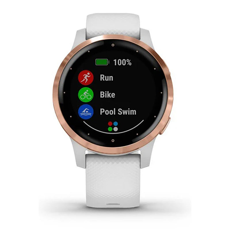 Garmin Vívoactive® 4S 40mm White with Rose-Gold Hardware