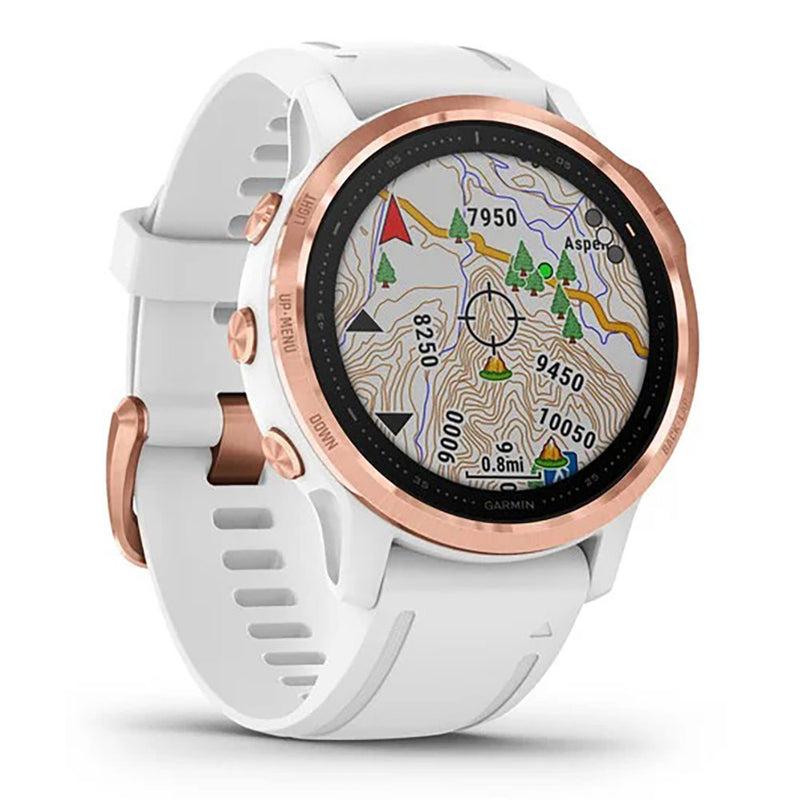 Garmin Fēnix® 6S Pro & Sapphire Edition 42mm RoseGold tone with White Band