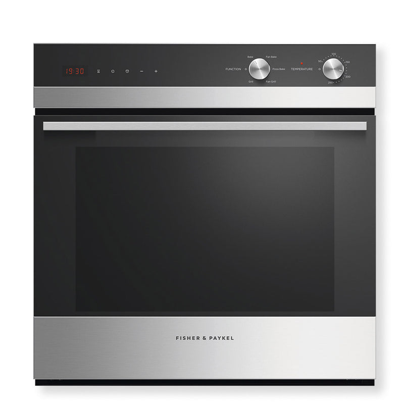 Fisher & Paykel 85L Built-in Stainless Steel/Black Glass Oven 5 Function