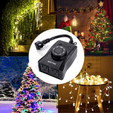 BESTTEN Outdoor Timer with Photocell Light Sensor and 2 Grounded Outlets, Dusk to Dawn and Countdown Modes, Weatherproof Plug in Switch for Holiday Decoration, Christmas Lights and Outdoor Lighting