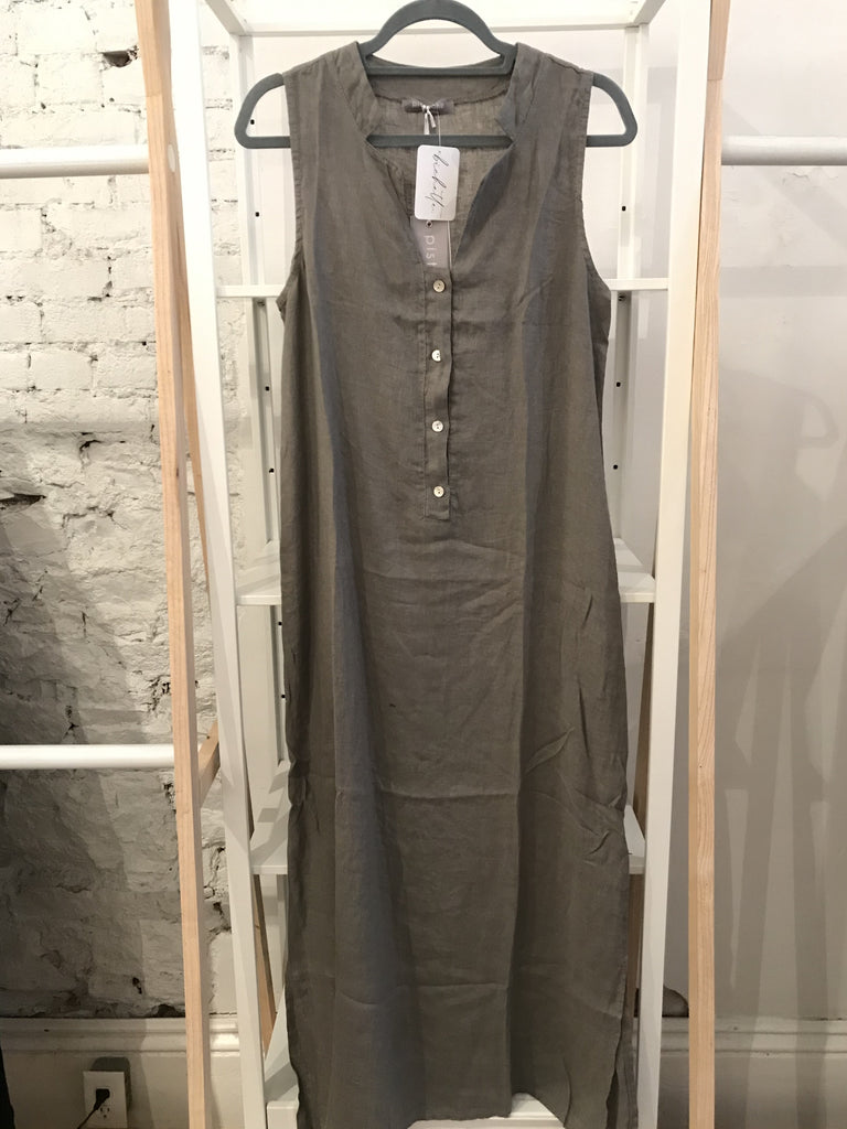 Sara Linen Dress - Taupe
