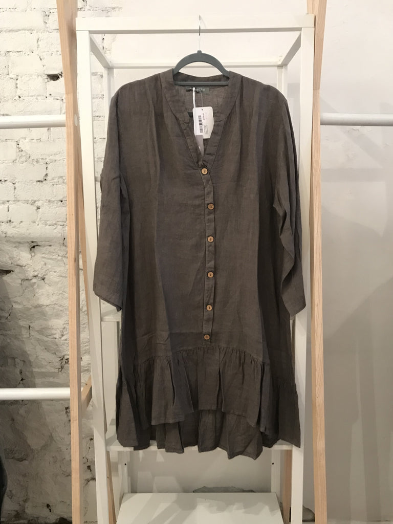 Lily Button-Down Dress - Taupe