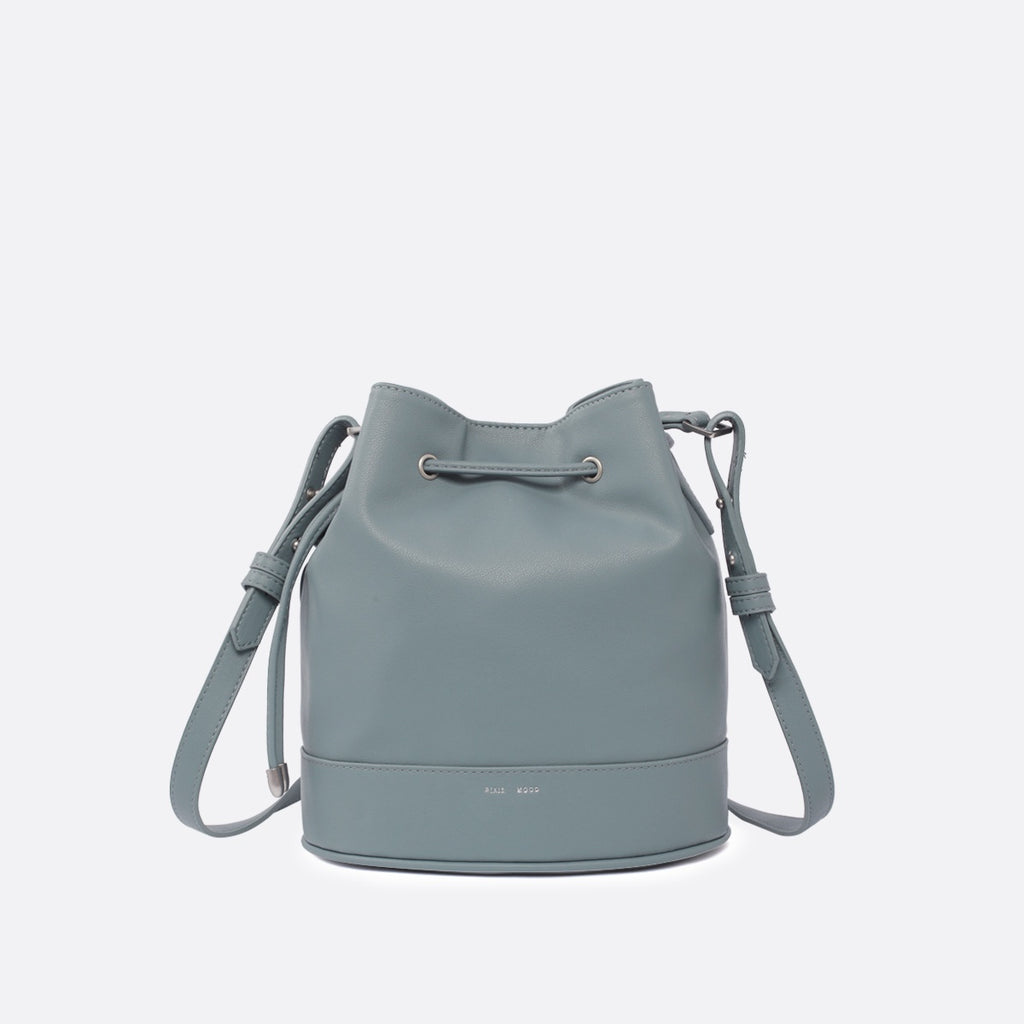 Amber Bucket Bag - Mineral Blue