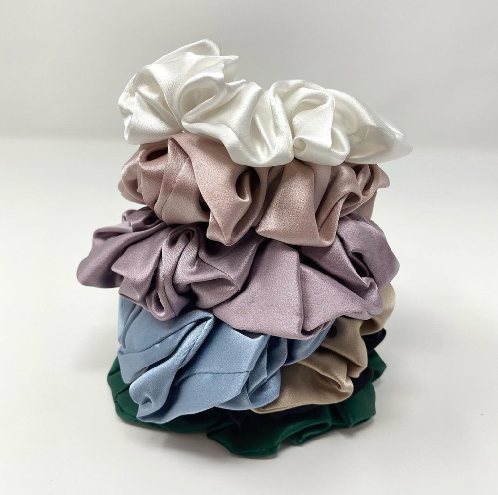 Mulberry Silk Scrunchie - Gold