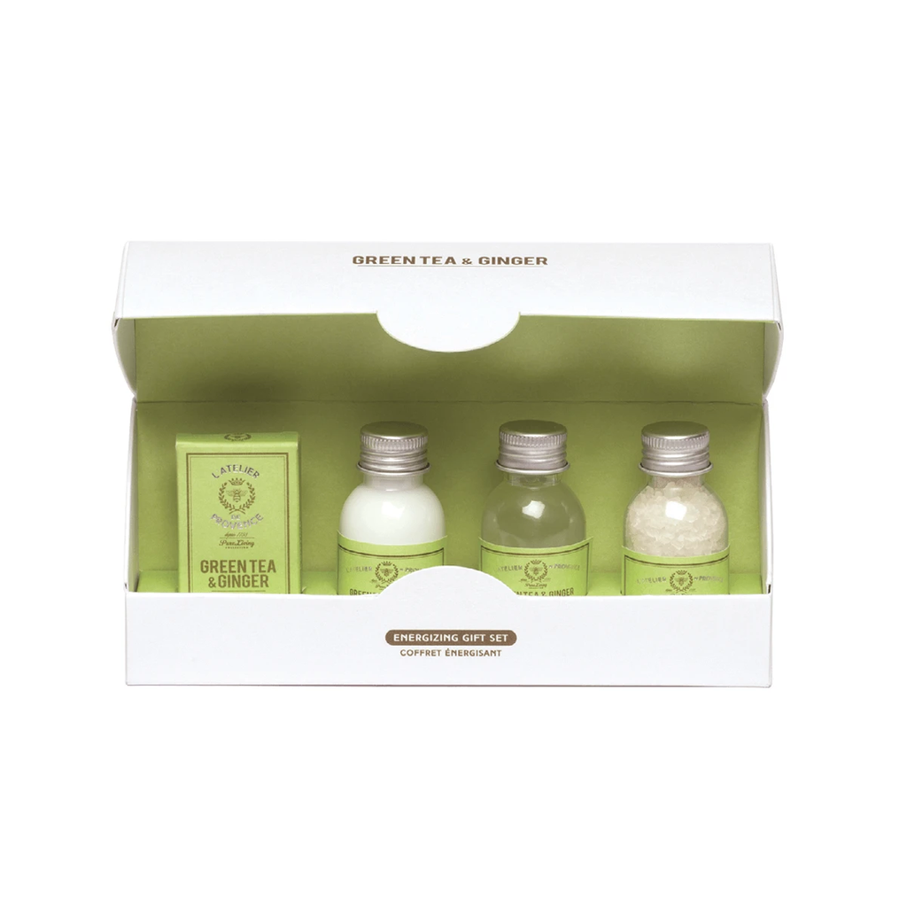 Atelier Bath Salt + Soap + Foaming Bath Gift Set - Green Tea