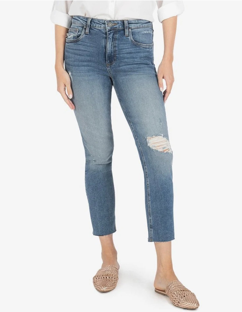 Rachael High Rise Raw Mom Jean - Noticeable