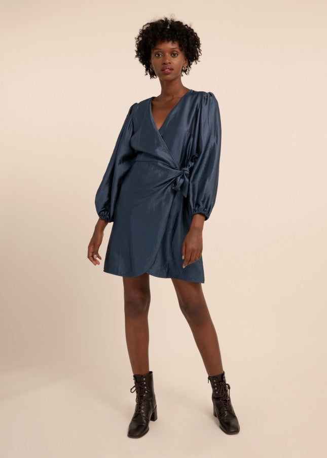 Acela Dress - Duck Blue