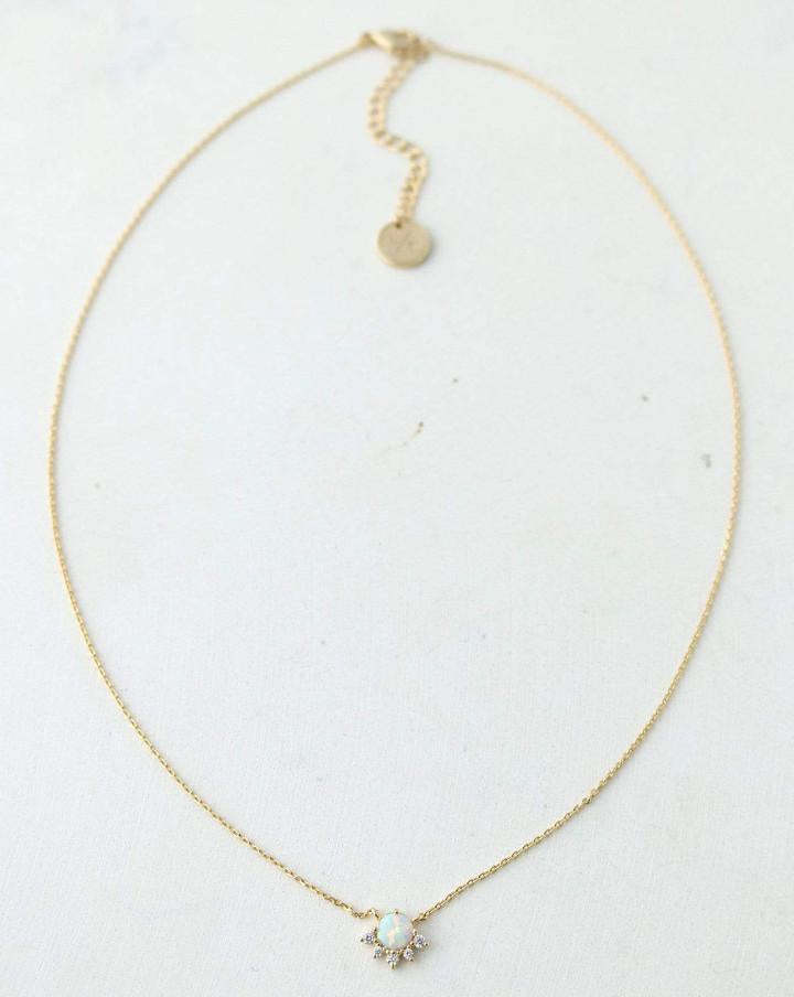 Juno Necklace - Gold/Opal