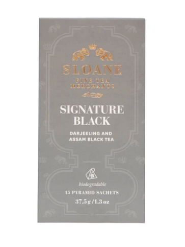 Tea Sachet Box, Signature Black