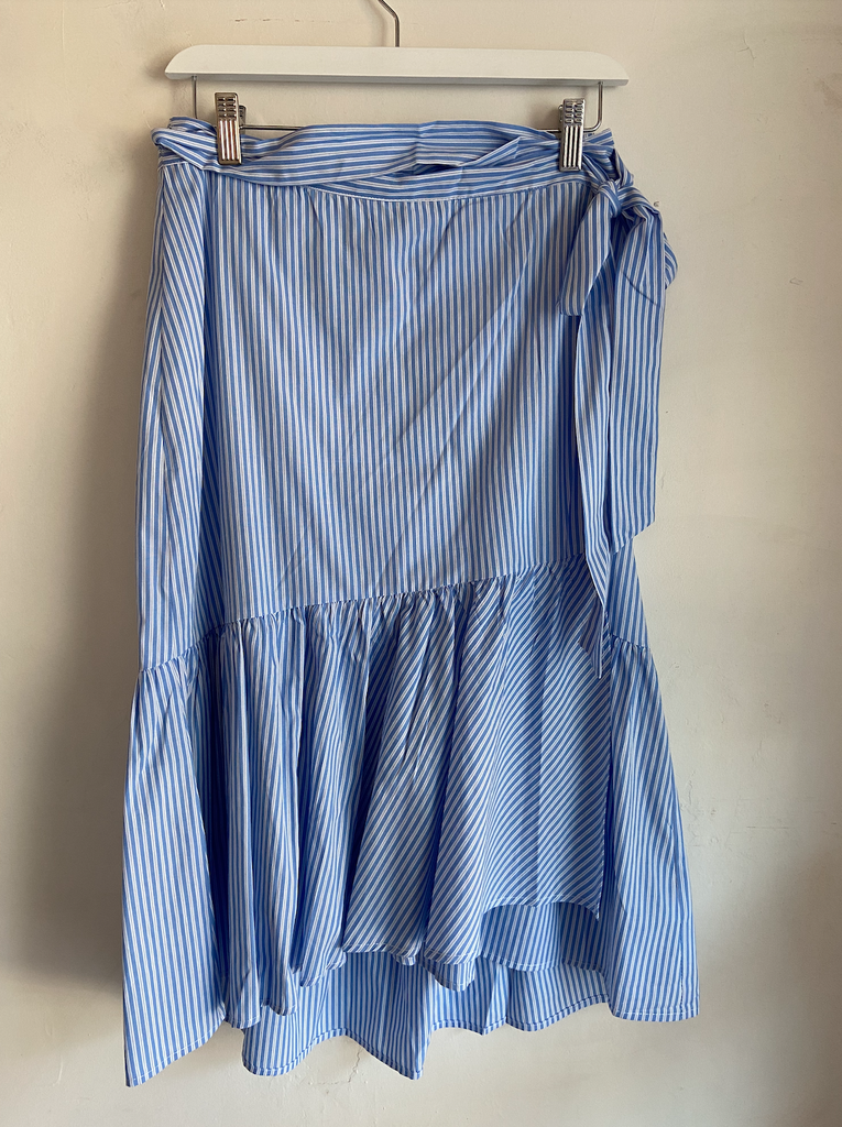Roxanne Wrap Skirt - Blue Stripe