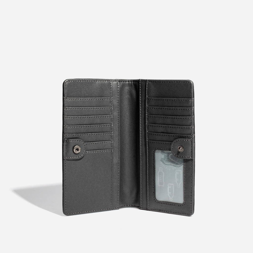 Sophie Wallet - Black Croc