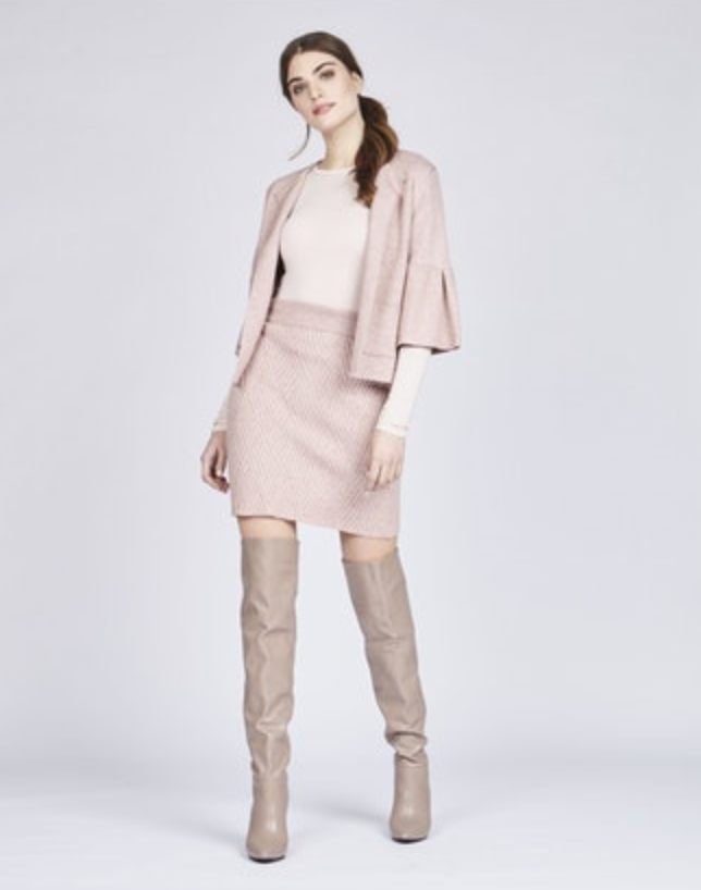 Amoura Bell Sleeved Cardigan - Rosa
