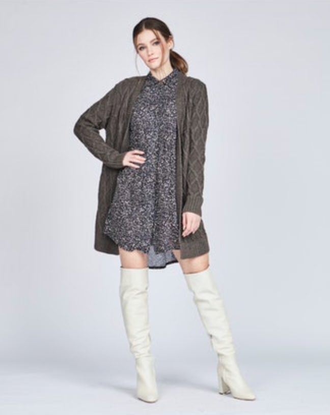Ema Button-Down Dress - Splash