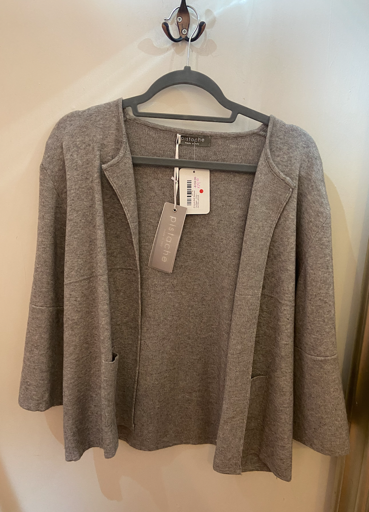 Amoura Bell Sleeved Cardigan - Grey