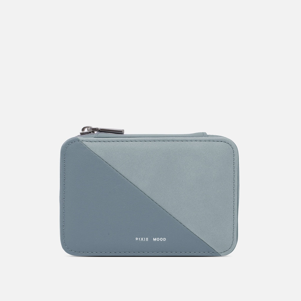 Blake Travel Jewelry Case - Mineral Blue
