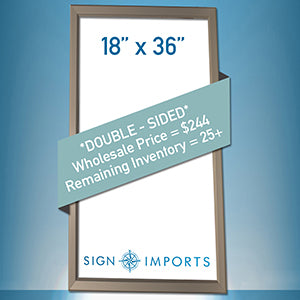 18 x 36 Double Sided Ultra Thin LED Light Box - Inventory Reduction Sale
