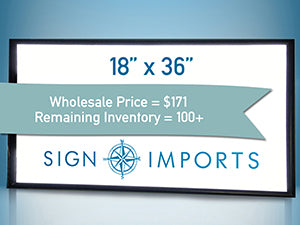 18 x 36 Single Sided Ultra Thin LED Light Box - Inventory Reduction Sale