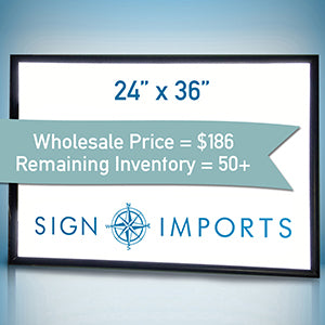 24 x 36 Single Sided Ultra Thin LED Light Box - Inventory Reduction Sale